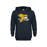 Youth Navy Fleece Hoodie-Griffin