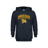 Youth Navy Fleece Hoodie-Arched Canisius College Hockey