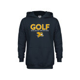 Youth Navy Fleece Hoodie-Golf Design