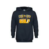 Youth Navy Fleece Hood-Tee Off Golf Design