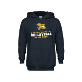 Youth Navy Fleece Hoodie-Can You Dig It - Volleyball