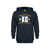 Youth Navy Fleece Hoodie-Cross Country Design