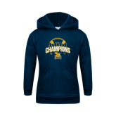 Youth Navy Fleece Hood-2017 MAAC Champions Baseball