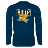Syntrel Performance Navy Longsleeve Shirt-Griffs w/ Griff Stacked