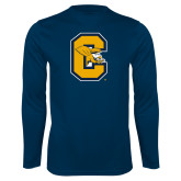 Syntrel Performance Navy Longsleeve Shirt-Capital C Griffs