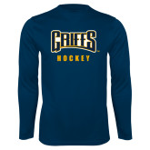 Syntrel Performance Navy Longsleeve Shirt-Hockey