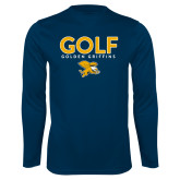 Syntrel Performance Navy Longsleeve Shirt-Golf Design