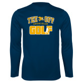 Syntrel Performance Navy Longsleeve Shirt-Tee Off Golf Design