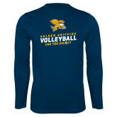 Performance Navy Longsleeve Shirt-Can You Dig It - Volleyball