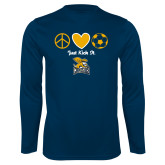 Syntrel Performance Navy Longsleeve Shirt-Just Kick It Soccer Design