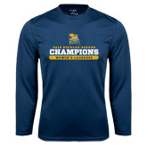 Performance Navy Longsleeve Shirt-2016 Regular Season Champions Womens Lacrosse
