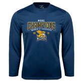 Syntrel Performance Navy Longsleeve Shirt-2016 MAAC Champions Womens Lacrosse
