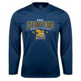 Performance Navy Longsleeve Shirt-2016 MAAC Champions Womens Lacrosse