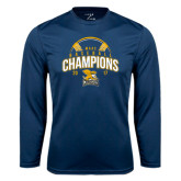 Syntrel Performance Navy Longsleeve Shirt-2017 MAAC Champions Baseball