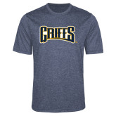 Performance Navy Heather Contender Tee-Griffs Wordmark