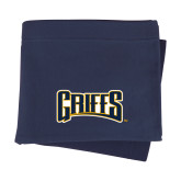Navy Sweatshirt Blanket-Griffs Wordmark