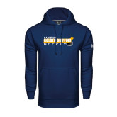 Under Armour Navy Performance Sweats Team Hoodie-Hockey Stick Design
