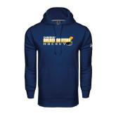 Under Armour Navy Performance Sweats Team Hoodie-Hockey Stick Design