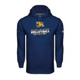 Under Armour Navy Performance Sweats Team Hoodie-Can You Dig It - Volleyball