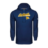 Under Armour Navy Performance Sweats Team Hoodie-Script Softball w/ Bat Design