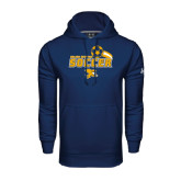 Under Armour Navy Performance Sweats Team Hoodie-Soccer Swoosh Design