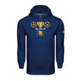 Under Armour Navy Performance Sweats Team Hoodie-Just Kick It Soccer Design