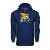 Under Armour Navy Performance Sweats Team Hoodie-Canisius w/ Griff Stacked