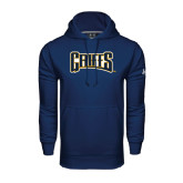 Under Armour Navy Performance Sweats Team Hoodie-Griffs Wordmark
