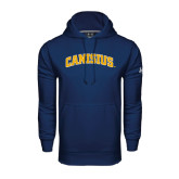 Under Armour Navy Performance Sweats Team Hoodie-Arched Canisius