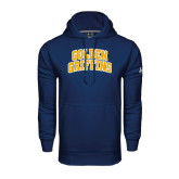 Under Armour Navy Performance Sweats Team Hoodie-Arched Golden Griffins