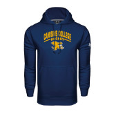 Under Armour Navy Performance Sweats Team Hoodie-Arched Canisius College Hockey
