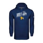 Under Armour Navy Performance Sweats Team Hoodie-Runnin Griffs Basketball Design