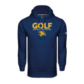 Under Armour Navy Performance Sweats Team Hoodie-Golf Design