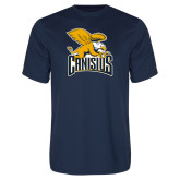 Performance Navy Tee-Canisius w/ Griff Stacked
