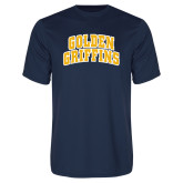 Syntrel Performance Navy Tee-Arched Golden Griffins