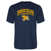 Performance Navy Tee-Arched Canisius College Hockey