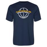 Performance Navy Tee-Basketball Ball Design