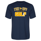 Syntrel Performance Navy Tee-Tee Off Golf Design