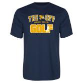 Performance Navy Tee-Tee Off Golf Design