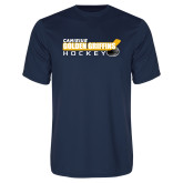 Syntrel Performance Navy Tee-Hockey Stick Design