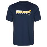 Performance Navy Tee-Hockey Stick Design