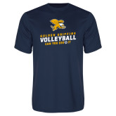 Performance Navy Tee-Can You Dig It - Volleyball