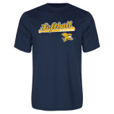 Syntrel Performance Navy Tee-Script Softball w/ Bat Design