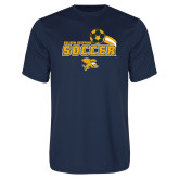 Syntrel Performance Navy Tee-Soccer Swoosh Design