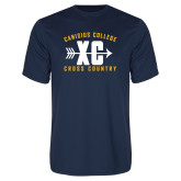 Syntrel Performance Navy Tee-Cross Country Design