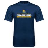 Performance Navy Tee-2016 Regular Season Champions Womens Lacrosse