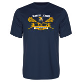 Performance Navy Tee-2018 Mens Lacrosse Champions