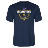 Performance Navy Tee-2018 MAAC Baseball Champions