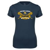Ladies Syntrel Performance Navy Tee-2018 Mens Lacrosse Champions