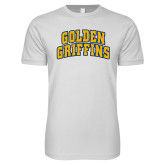 SoftStyle White T Shirt-Arched Golden Griffins